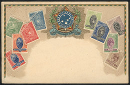 BRAZIL: Postage Stamps And Coat Of Arms, Circa 1910, VF Quality! - Brésil