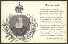 "BRAZIL: Emperor Dom Pedro De Alcantara And His Poem Terra Do Brazil, Used, Fine Quality!"" - Brésil"
