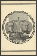 BRAZIL: Eucharistic Congress Of 1934: Cardinal Pacelli And Cardinal Leme With Christ The Redeemer, With Variety: Offset  - Brésil