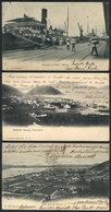 BRAZIL: SANTOS: 3 Old Postcards With Very Good Views, Used Between 1906 And 1909, Edited By Gaensly (2) And J. Marques P - Brésil