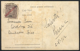 CAPE VERDE: Postcard (view Of Sao Vicente Market Place), Franked By Sc.89, Sent From Sao Vicente To Argentina On 3/JUN/1 - Cap Vert