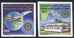 COMOROS ISLANDS: Sc.C109/110, 1980 Rotary, Concorde, Maps, Set Of 2 Values, IMPERFORATE Variety, VF Quality, Rare! - Comores (1975-...)