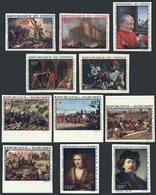 CONGO + DAHOMEY: Lot Of IMPERFORATE Sets And Stamps, Topic PAINTINGS, MNH And Excellent, Unlisted (imperforate) By Yvert - Autres - Afrique