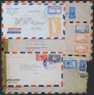 COSTA RICA: 5 Covers Used Between 1944 And 1954, Nice Postages, Several Censored, VF General Quality! - Costa Rica