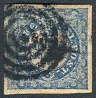 DENMARK: Sc.1, 1851 2Rs. Blue, 4 Ample Margins, Very Fresh, Excellent Quality! - Danemark