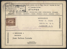 ECUADOR: 18/MAY/1929 Guayaquil - Cristobal: PANAM First Flight, With Arrival Backstamp, VF Quality! - Equateur
