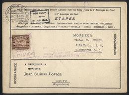 ECUADOR: 18/MAY/1929 Guayaquil - Cristobal: PANAM First Flight, With Arrival Backstamp, VF Quality! - Ecuador