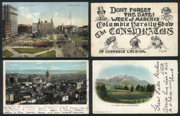 UNITED STATES: 18 Postcards Used Between 1902 And 1908, Many With Interesting Views, Some Very Rare. Almost All With Sta - Etats-Unis