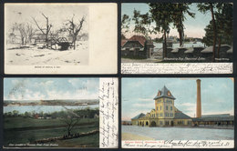 UNITED STATES: 25 Postcards Used Between 1904 And 1912, Many With Interesting Views, Some Very Rare. Almost All With Sta - Etats-Unis