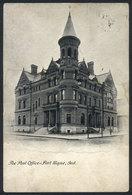 UNITED STATES: FORT WAYNE, Ind.: The Post Office, Ed.J.Murray Jordan, Used In 1906, VF! - Etats-Unis