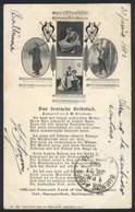 UNITED STATES: BALTIMORE: Official Souvenir Card Of The 20th. Triennial Nat. Saengerfest, Sent To Buenos Aires In 1903,  - Etats-Unis