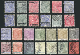 GIBRALTAR: Small Lot Of Old Stamps, Very Fine Quality! - Gibraltar