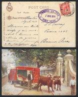 GREAT BRITAIN: Postcard (Madeira: Carro De Bois) Sent To Argentina On 2/AU/1914, Franked With British Stamp Of 1p., Canc - Grande-Bretagne