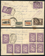 GREECE: Cover Sent To Argentina Via ZEPPELIN On 1/DE/1934, With Very Attractive Postage On Front And Back, Green Handsta - Grèce