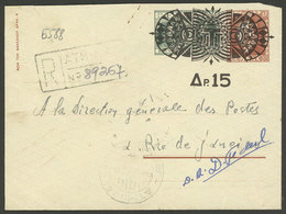 GREECE: Interesting Stationery Envelope Sent By Registered Mail To Rio De Janeiro In 1952! - Grèce