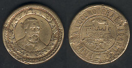 GUATEMALA: GOLD MEDAL Commemorating The Inauguration Of The First Railway In The Year 1877, Diameter 21 Mm, Weight 7.95  - Chemin De Fer