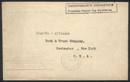 HAITI: Cover Of The American Embassy Sent With Diplomatic Postal Franchise To New York, With Arrival Mark Of 5/DEC/1936, - Haïti