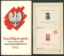 ITALY - POLISH CORPS: Fundraising Folder With 10 Pages Containing 4 Stamps And 3 Souvenir Sheets (glued), Excellent Qual - 1946-47 Période Corpo Polacco