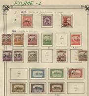 ITALY - FIUME: Old Collection On Album Pages, Fairly Complete. It Includes Many Rare Stamps Of High Value. The General Q - Fiume