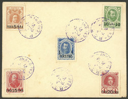 RUSSIAN LEVANT: Envelope With Stamps Sc.213/217 (the 5 First Values Of The Commemorative Set Of The 300th Anniversary Of - Autres