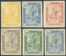 """MADAGASCAR: Sc.63/77, 1903 Zebu, Lemur And Tree, 6 TRIAL COLOR PROOFS Of 0F Value, Very Nice, Fine Quality!"""" - Madagascar (1889-1960)"""