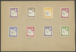FALKLAND ISLANDS/MALVINAS: Sc.1L1/1L8, 1946 Map Of The Islands, Cmpl. Set Of 8 Values On A Cover With Violet Cancels Of  - Falkland