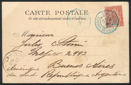 MARTINIQUE: PC (view Of La Place Bertin, Fontaine Agnes, Saint-Pierre), Franked By Sc.39, Sent From Fort De France To Ar - Martinique (1886-1947)