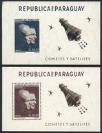 PARAGUAY: Year 1962, Souvenir Sheet With Stamp Sc.706 (perforated And Imperf With Changed Color), MNH, VF Quality, Catal - Paraguay