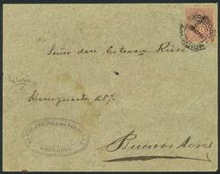 PARAGUAY: Front Of Cover Sent By The Banco Agrícola Del Paraguay In Asunción To Argentina On 23/MAY/1897, Franked With 1 - Paraguay