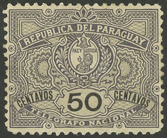PARAGUAY: Yvert 5, 1892/1901 50c. Mint With Original Gum, Excellent Quality, VERY Rare. With Double Signature Of Marcelo - Paraguay