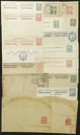 PARAGUAY: 16 Old Postal Stationeries, 2 Illustrated On Back, Most Of Fine To VF Quality! - Paraguay