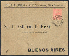 PARAGUAY: Front Of Cover Sent From Asunción To Argentina On 1/OC/1894, Franked With 20c. (Sc.29 ALONE), Very Fine Qualit - Paraguay