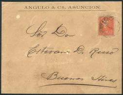 PARAGUAY: Front Of Cover Sent From Asunción To Argentina In OCT/1896 Franked With 20c. (Sc.40), Very Nice! - Paraguay