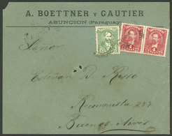 PARAGUAY: Cover Front With 10c. Postage, Sent To Buenos Aires On 24/MAR/1897, Very Nice! - Paraguay