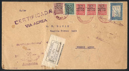 PARAGUAY: 24/MAR/1929: Registered Cover Franked By Sc.C1/3 + Another Value, Sent Via Airmail From Asunción To Buenos Air - Paraguay