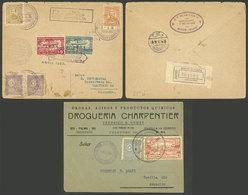 PARAGUAY: Cover Front Of 1931 With Interesting Cancels + Zeppelin Cover Of 1935 Sent To Germany (minor Defects), Low Sta - Paraguay