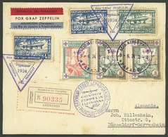 PARAGUAY: Cover Flown By ZEPPELIN, Sent From Asunción To Düsseldorf On 9/JUN/1934, Handsome Postage (with Little Stainin - Paraguay