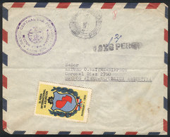 PARAGUAY: Official Envelope Of The Central Bank Of Paraguay, Sent Without Postage To Argentina On 1/MAR/1955, With Inter - Paraguay