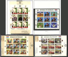 PARAGUAY: MINI-SHEETS: Collection In Album Of Mini-sheets Of Very Thematic Sets (Yvert 1856a To 2515a, Apparently Comple - Paraguay