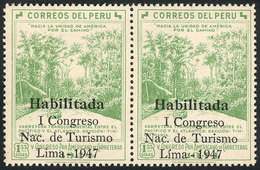 """PERU: Sc.422, Pair, One With Accent Over The I Of LIMA, VF Quality!"""" - Pérou"""