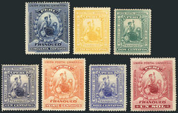PERU: Sc.94/100, 1895 Complete Set Of 7 Values, Few Without Gum, Fine To VF Quality, Catalog Value US$125 - Pérou