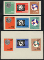 PERU: Sc.C206/208, 1967 Photo Expo Perú Ante El Mundo, TRIAL COLOR PROOFS In The Adopted Colors And Each Value In 2 Othe - Pérou