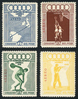PERU: Yvert 71/74, 1948 London Olympic Games, Cmpl. Set Of 4 Values, Mint With Tiny Hinge Marks Barely Visible (almost A - Pérou