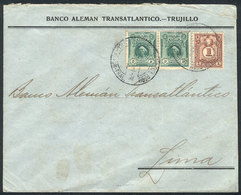 PERU: Cover Franked By Sc.178 Pair + Postage Dues Stamp Sc.J40, Total 5c., Used In Lima, Fine Quality! - Pérou
