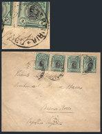 PERU: Cover Franked By Sc.210 X4 With RECEPTORIA ..BARRANCO Cancel, Buenos Aires Arrival Backstamp For 14/AU/1919, Inter - Pérou
