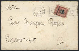 PERU: Cover Used In Lima In MAY/1929, Franked With Provisional Stamp Of 2c. (Sc.255) ALONE, Fine Quality, Rare! - Pérou