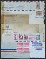 EL SALVADOR: 7 Covers Used Between 1944 And 1955 With Interesting Postages, Some With POSTAL FRANCHISE, Also Censored, V - Salvador