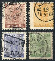 SWEDEN: Sc.6 + 8 + 10 + 11, Used, Nice Cancels, VF Quality, Catalog Value US$82 - Suède