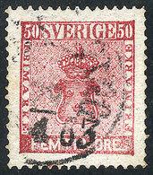 SWEDEN: Sc.12, 1858/62 50ö., Used, VF Quality, Catalog Value US$100 - Suède