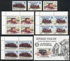 TOGO: Sc.1343/5 (x5)+ 1346, 1985 Rotary, The Set + Blocks Of 4 + Souvenir Sheet, VF Quality, Catalog Value US$84.50 - Togo (1960-...)